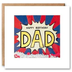 Dad Kapow Shakies Card