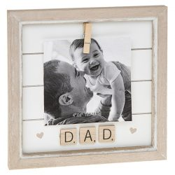 Dad Scrabble Peg Photo Frame