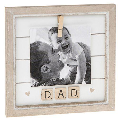 Dad Scrabble Peg Photo Frame