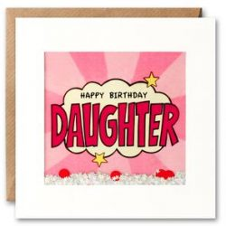 Daughter Birthday Kapow Shakies Card