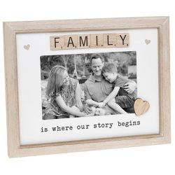 Family Scrabble Sentiments Photo Frame