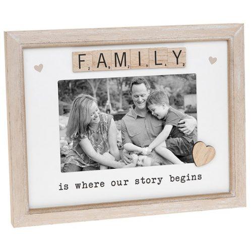 Family Scrabble Sentiments Photo Frame