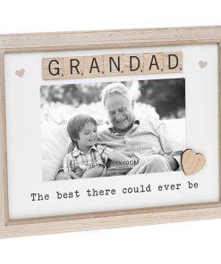 Grandad Scrabble Sentiments Photo Frame