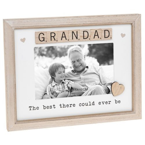 Grandad Scrabble Sentiments Photo Frame