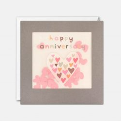 Happy Anniversary Grey Paper Shakies Card