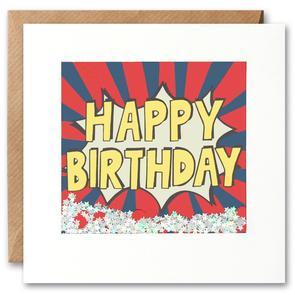 Happy Birthday Stripe Kapow Shakies Card