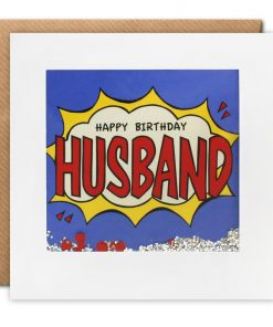 Husband birthday kapow shakies card