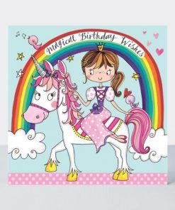 Princess & Unicorn Jigsaw Greeting Card