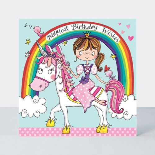 Princess & Unicorn Jigsaw Greeting Card