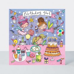 Birthday Girl Fairy Party Jigsaw Greetings Card