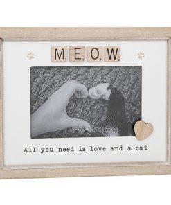 Meow Scrabble Sentiments Photo Frame
