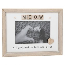 Meow Scrabble Sentiments Photo Frame
