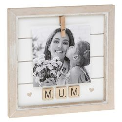 Mum Scrabble Peg Photo Frame