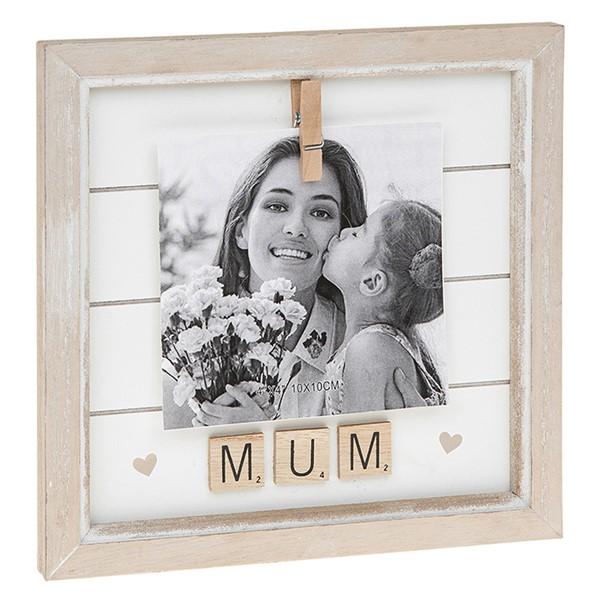 Mum Scrabble Peg Photo Frame