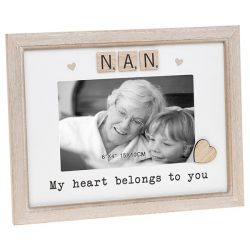 Nan Scrabble Sentiments Photo Frame