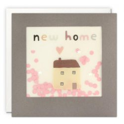 New home house grey paper shakies card