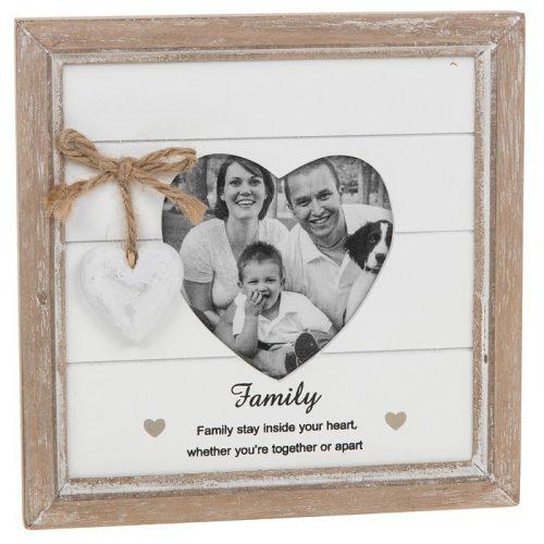 Provence Family Heart Photo Frame