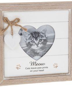 Provence Meow Heart Photo Frame