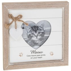 Provence Meow Heart Photo Frame