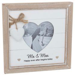Provence Mr & Mrs Heart Photo Frame