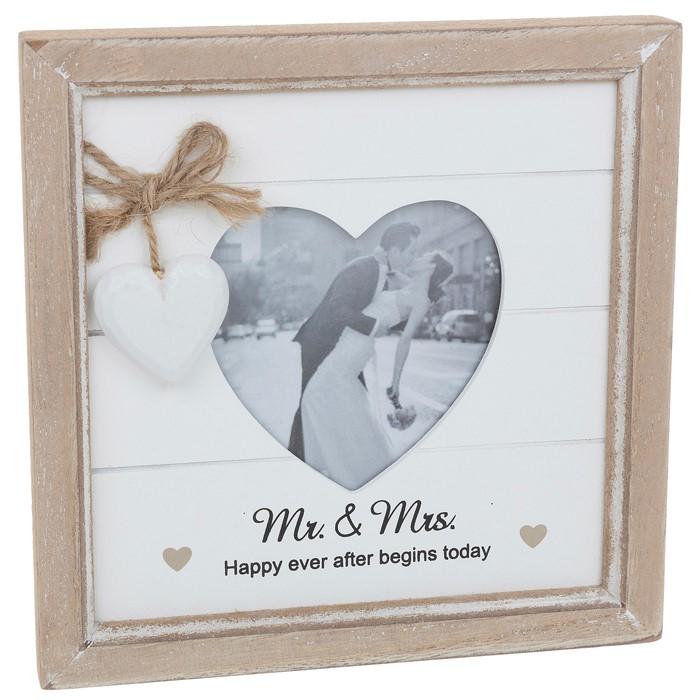 Provence Mr & Mrs Heart Photo Frame