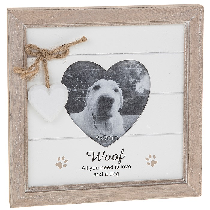 Provence Woof Heart Photo Frame