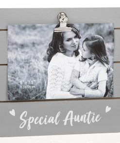 Special Auntie Grey Cutie Clip Photo Frame