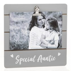 Special Auntie Grey Cutie Clip Photo Frame