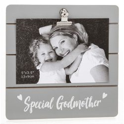 Special Godmother Grey Cutie Clip Photo Frame