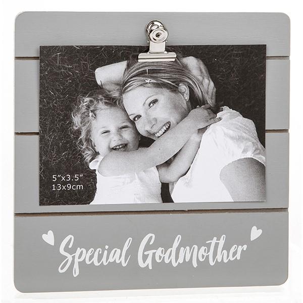 Special Godmother Grey Cutie Clip Photo Frame