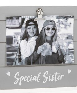 Special Sister Grey Cutie Clip Photo Frame