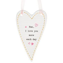 Thoughtful Words Mother's Day Heart Plaque Nan