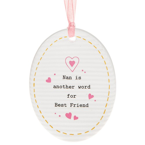 Thoughtful Words Mother's Day Oval Plaque Nan
