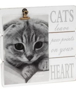 White Message Clip Photo Frame Cat