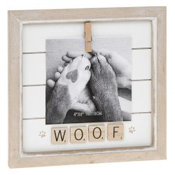 Woof Scrabble Peg Photo Frame