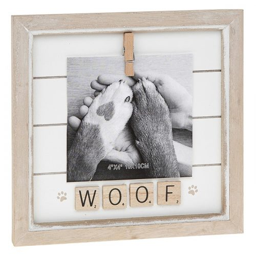 Woof Scrabble Peg Photo Frame