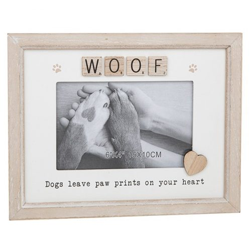 Woof Scrabble Sentiments Photo Frame