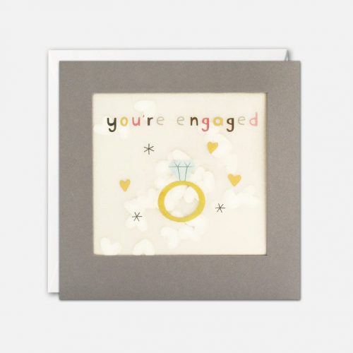 You're Engaged Grey Paper Shakies Card