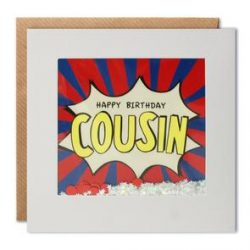 cousin birthday kapow shakies card