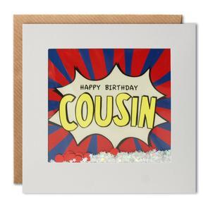 cousin birthday kapow shakies card