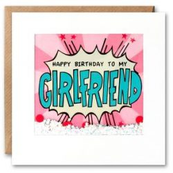 girlfriend birthday kapow shakies card