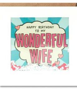 wife birthday kapow shakies card