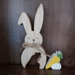 Easter Rabbit with Egg & Carrot