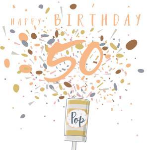 Happy Birthday Age Popper Card