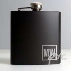 Personalised Black HipFlask