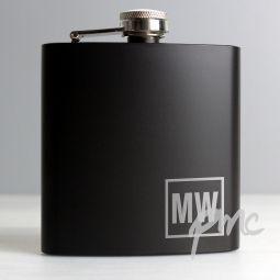 Personalised Black HipFlask