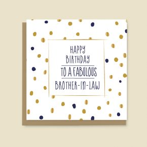 Happy Birthday Card Brother in law