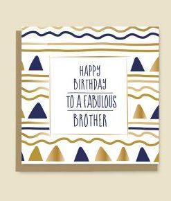 Happy Birthday Card Brother