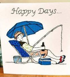 Happy Birthday Fishing Card
