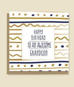 Happy Birthday Card Grandson